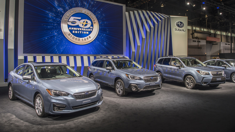 Subaru offers 50th-anniversary edition versions of all its cars