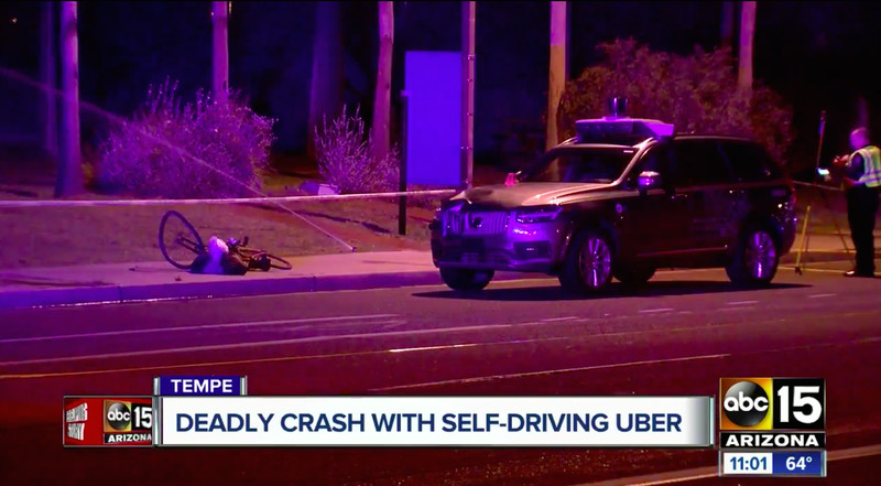 Uber suspends autonomous vehicle testing after bicyclist is killed
