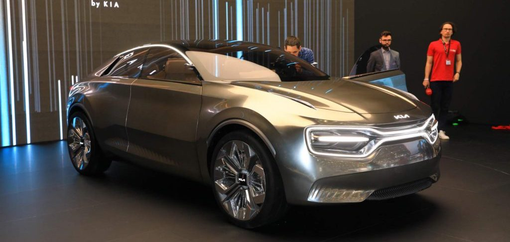 Kia's Imagine concept is a high-riding, electric sedan