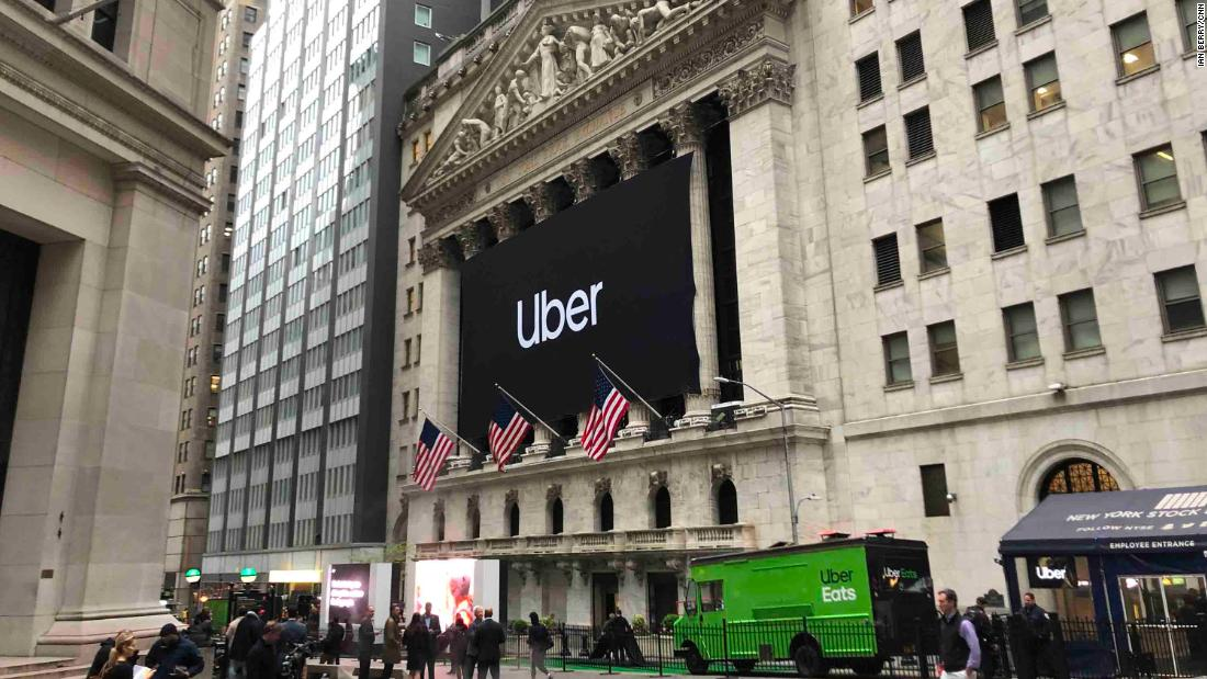 Uber prices its stock IPO at the low end, as trading begins on Friday
