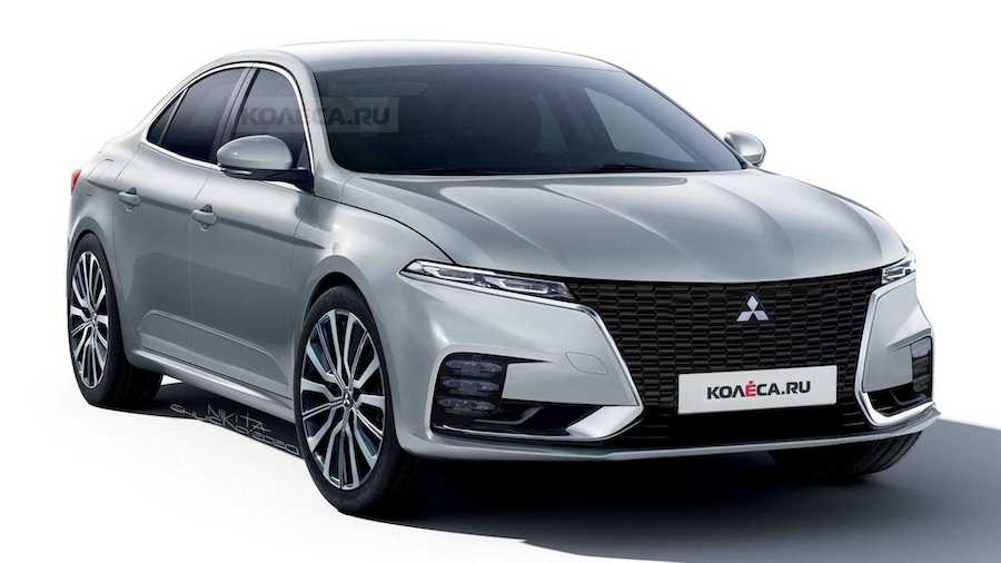 Mitsubishi Galant Rendering Imagines Sleek Sedan Revival